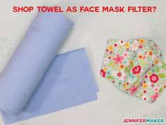 Blue Shop Towel as Face Mask Filter Material: What to Use, What to Avoid - Common Household Materials that may be used as a filter, along with research into effectiveness and breathability Diy Mask, Diy Face Mask, What To Use, How To Make, Wet Wipe, Homemade Face Masks, Mask Making, Craft Stores, Sewing Projects