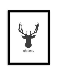 Oh Deer Wall Art Free Printable Paris is Always a Good Idea Art from - easy wall art DIY Free Prints, Wall Prints, Poster Prints, Simple Wall Art, Easy Wall, Imprimibles Baby Shower, Cuadros Diy, Deer Wall Art, Oh Deer