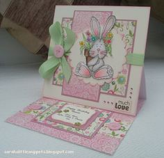 Sarah's Little Snippets: Happy Birthday Easel Card for Mum