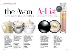 The Avon A-List! From the latest innovations to the must-haves women say they can't live without!