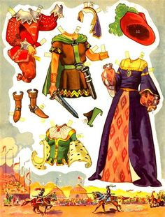 The Prince and The Princecess * Free paper dolls at Arielle Gabriel's The International Paper Doll Society