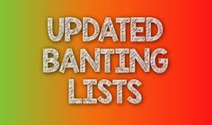 For The Love Of Banting: UPDATED Banting Lists - April 2017