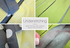 Tutorial for Understitching (Keep Facings and Linings Neatly Out of Sight) - sew4home