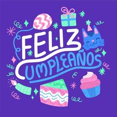Spanish Birthday Cards, Hbd Quotes, Birthday Letters, Tropical Party, Happy B Day, Happy Birthday Wishes, E Cards, Cake Toppers, Birthdays