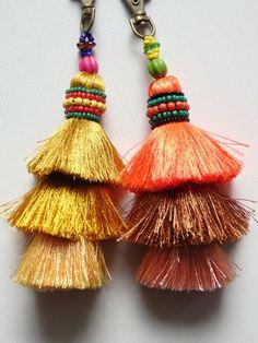 Bold Colors, Colours, Expensive Handbags, Boho Bags, Boho Designs, Key Fobs, Festival Fashion, Color Pop, Tassels