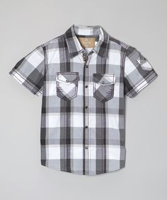 Love this Gray Skull Rogue Romeo Button-Up - Toddler & Boys by Kalliope on #zulily! #zulilyfinds