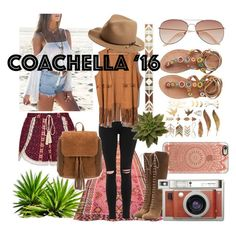 """""""coachella"""" by anoo17k ❤ liked on Polyvore featuring Ally Fashion, Casetify, Topshop, H&M, Laidback London, Etro, rag & bone and Lomography"""