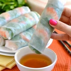 How to Make Vietnamese Fresh Spring Rolls  by notenoughcinnamon: Step by Step Recipe. #Spring_Rolls #Vietnamese