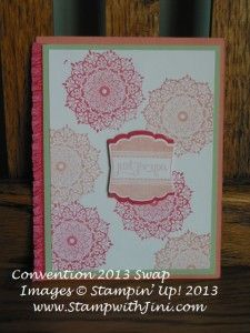 Scrapbook card love these new in colors