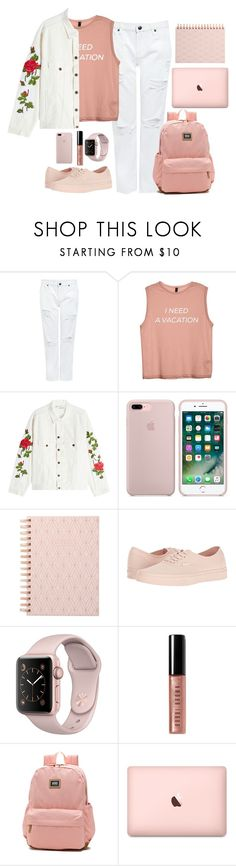"""rosegold x white"" by mmaulidyaa on Polyvore featuring Edit, Off-White, DESIGNWORKS INK, Vans and Bobbi Brown Cosmetics"