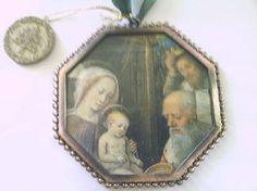 Vatican Library Collection Wall Hanging/ Ornament by TreasureTwins, $10.00 Vatican Library, Hanging Ornaments, Unique Jewelry, Handmade Gifts, Frame, Wall, Collection, Vintage, Etsy