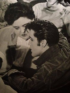 "Elvis and Gladys filming ""Loving You"""