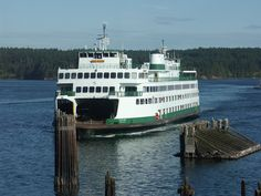 The Yakima arriving at Orcas Landing.  Photo by Liz Illg