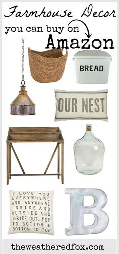 farmhouse decor.