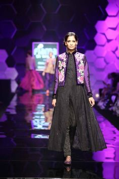 Floral print jacket - Payal Pratap Autumn Winter 2013 at Wills Lifestyle India Fashion Week Delhi