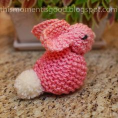 This Moment is Good...: LOOM KNIT BUNNY TUTORIAL
