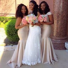 Great Elegant soft gold long bridesmaid dresses Black wedding
