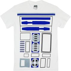 Play the part of everyone's favorite bucket of bolts in this white, cotton t-shirt from Star Wars, featuring an costume print across the front. If there's a better tee to save the day in, we haven't found it, in this galaxy or any other. R2d2 Costume, T Shirt Costumes, Diy Costumes, Costume Ideas, Star Wars Tee Shirts, Running Costumes, Star Wars Costumes, Movie T Shirts, Graphic Shirts