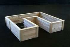 U-shaped raised beds are perfect for making efficient use of any gardening space.