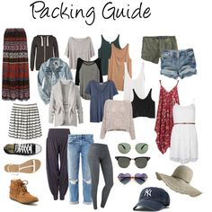 Light packing guide for a European summer! (by krystinaamato on Polyvore)
