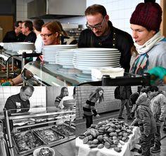Foodfighters Kochshow in der IGS Emmelshausen. Collage: Moderne Topfologie