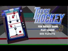 Tap Ice Hockey. Love air hockey or table hockey? Tap Ice Hockey is a fun hockey game. Tap Ice Hockey is modified version from air hockey and table hockey. Playing is easy just touch top or bottom of the player and it will move forward or backward.  Two game modes. Quick match where you can engage your skills and league mode. League mode contains ten team regular season and best of three playoffs.