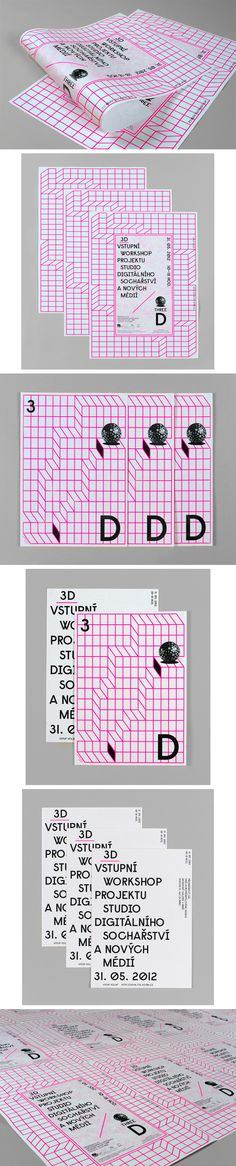 3D - Anymade Studio (République Tchèque)Grid style looks cool, like the bright colour with simple lines to bring out a layout