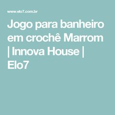 Jogo para banheiro em crochê Marrom   Innova House   Elo7