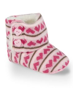 Love this Twinkie Pink Heart Faux Fur-Lined Boot by Twinkie on #zulily! #zulilyfinds