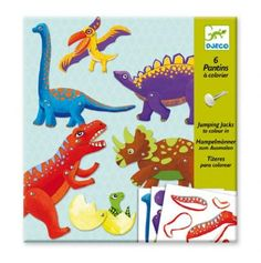 #Djeco Dinosaur Puppets - make some moving dinosaur paper puppet