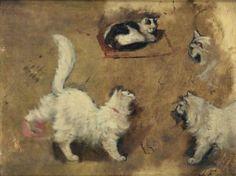 Cat studies, Louis Eugène Lambert 1825-1900