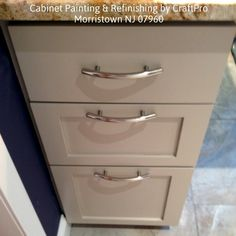 Kitchen Cabinet Painting & Refinishing Services by CraftPro Contracting in Morristown NJ 07960