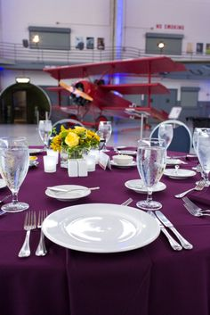 Wedding or event attendees can dine alongside the World's Largest Private Collection of Vintage Aircraft at Fantasy of Flight.