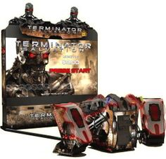 """Terminator Salvation Arcade SDX / Super Deluxe 100"""" Model Video Arcade Game With 100"""" Projection Monitor"""