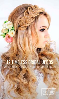 12 Timeless Bridal Hairstyles ❤ If you're still looking for a great hairstyle for your wedding, but you've been thinking more along the lines of one of those elaborate 'dos, take a moment to consider these wonderfully simple and elegant styles that might just catch your fancy. See more: http://www.weddingforward.com/timeless-bridal-hairstyles/ #wedding #hairstyle