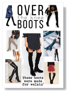 """Thigh high boots, over the knee boots, stinavilla, wardrobe consultant, personal stylist  """"These boots were made for walkin'"""" by cricri123 on Polyvore featuring White House Black Market, Lost Ink, Truffle, Privileged, Jacobies, Kendall + Kylie, Cape Robbin and OverTheKneeBoots"""