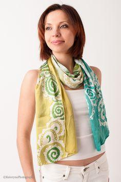 make Batik Silk Scarf - older girls