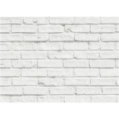 White Bricks Kitchen Panel Decal ($60) ❤ liked on Polyvore featuring home, home decor, wall art, brewster home fashions, white home accessories, white panels, white wall art and white home decor