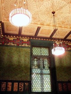 William Morris decorated Tea Room VA Museum