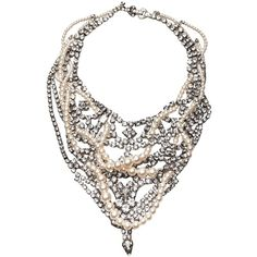 TOM BINNS DESIGN Crystal bib necklace ($1,165) ❤ liked on Polyvore featuring jewelry, necklaces, accessories, crystal stone jewelry, crystal jewellery, crystal stone necklace, bib jewelry and crystal bib necklaces