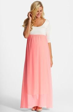 Free shipping and returns on PinkBlush Colorblock Maternity Maxi Dress at Nordstrom.com. A simplistic color-blocked design keeps it classic and fresh on an easy maxi dress with an Empire-waist silhouette.