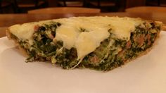Spinach and swish cheese quiche
