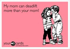 My mom... or in this case... Dad. Equalled my previous 1RM of 110kgs in 5-5-5-5-5 today. Pretty happy with that.