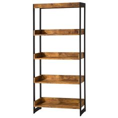 Estrella Industrial Bookcase with 4 Open Shelves by Coaster at Al-Mart Furniture 4 Shelf Bookcase, Etagere Bookcase, Bookcases, Metal Bookcase, Book Shelves, White Bathroom Furniture, Home Office Furniture, Furniture Stores, Furniture Ideas