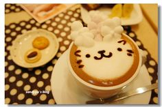 cute latte art @Taipei    幸福箱子: [台北]不只是可愛的點點咖啡 - yam天空部落