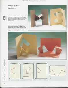 """Photo from album """"The Pop-Up Book"""" on Yandex. Arte Pop Up, Pop Up Art, Arte Elemental, Origami And Kirigami, Origami Templates, Box Templates, Paper Pop, Paper Engineering, Handmade Books"""