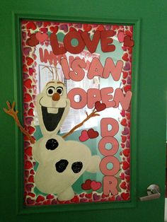 "Love this Valentine's Day window, "" Love is an open door!"" What fun February classroom decor idea! Valentine Theme, Valentine Day Crafts, Valentines Day Decor Classroom, Valentine Ideas, Classroom Door, Classroom Themes, Art Room Doors, Teacher Doors, Daycare Crafts"