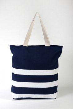 Υφασμάτινη Μεγάλη -Μπλε άσπρο - ριγέ Diaper Bag, Tote Bag, Bags, Fashion, Handbags, Moda, Fashion Styles, Diaper Bags, Mothers Bag
