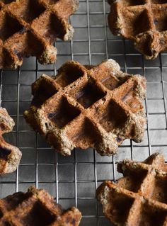 vegan banana buckwheat waffles