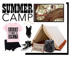 """""""Summer Camp"""" by bren-johnson ❤ liked on Polyvore featuring Camp Collection, rag & bone, Converse, Forever 21 and Levtex"""